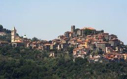 The village of Vezzano Ligure. Italy Stock Photo