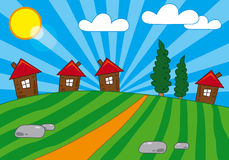 Village view Stock Image