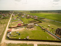 Village view from above Royalty Free Stock Image