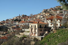 The village - 0074622. A view of the village of Arachova Stock Images