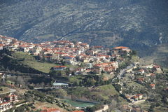 The village - 0074769. A view of the village of Arachova Royalty Free Stock Image