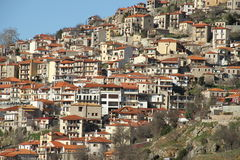 The village - 0074534. A view of the village of Arachova Royalty Free Stock Photos