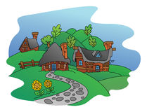 Village View. Illustrator design .eps 10 Royalty Free Illustration