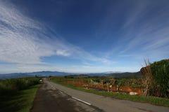 Village view in Kundasang Sabah Malaysia Royalty Free Stock Photo