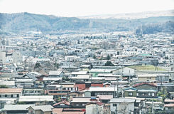 Village view in Shimoyoshida Royalty Free Stock Photography