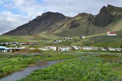 Village of Vik, Iceland Royalty Free Stock Photography