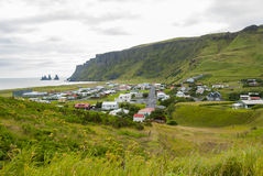 Village of Vik in Iceland Stock Photography