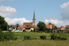 Village with vineyards Royalty Free Stock Photo