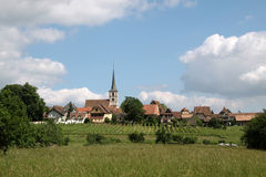 Village with vineyards Stock Image