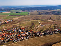Village among vineyards in spring Royalty Free Stock Images
