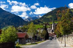 Village in Virgental Stock Photography
