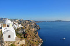 Village on volcanic island santorini, greece Stock Photography