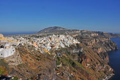 Village on volcanic island santorini, greece Royalty Free Stock Images