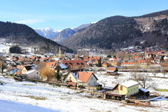 Village in the Vosges. Metzeral, picturesque village of mountain in Alsace Stock Photography