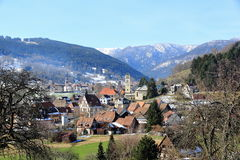 Village in the Vosges. Stosswihr, picturesque village of mountain in Alsace Stock Photography