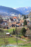 Village in the Vosges. Stosswihr, picturesque village of mountain in Alsace Stock Photo