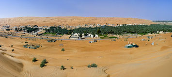 Village in the Wahiba Sands, Oman Royalty Free Stock Photography