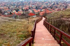 Village walk in hungary royalty free stock photography