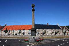 The village war memorial. The war memorial in the Somerset village of Cheddar royalty free stock photography