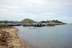 Village on the water. Port Moresby, Papua New Guinea Royalty Free Stock Photography