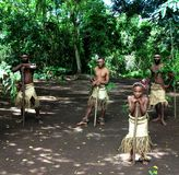 Village Welcome - Vanuatu Royalty Free Stock Photos