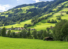 Village of Westendorf, Brixental Valley in Tirolean Alps, Austria,. Popular summer and winter location for tourism Stock Photo
