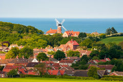 Village of weybourne north norfolk and windmill, e Royalty Free Stock Image
