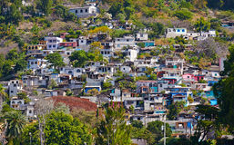 The village where Maya used to live on a hillside Royalty Free Stock Photography