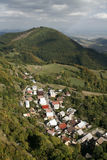 Village in the White Carpathians royalty free stock image