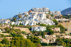 Village With White Houses In Benahavis, Malaga Royalty Free Stock Photos