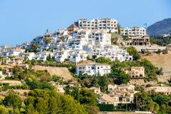Village With White Houses In Benahavis, Malaga Royalty Free Stock Photos