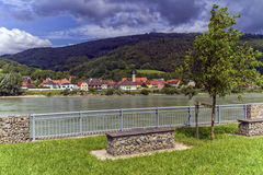 Village of Willendorf on the river Danube in the Wachau region, Austria Royalty Free Stock Photo