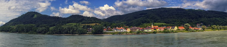 Village of Willendorf on the river Danube in the Wachau region, Austria Stock Photos