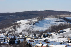 Village in winter Royalty Free Stock Photography