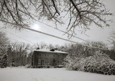 Village in winter 2 Stock Photo