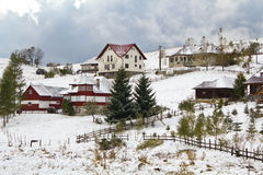 Village in winter Royalty Free Stock Photos