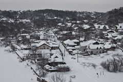 Village in winter Stock Image