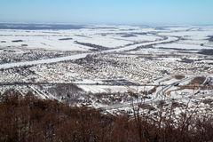 Village in winter Royalty Free Stock Images