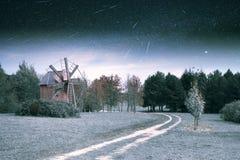 Village in winter. Stock Photo