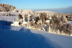Village in winter Royalty Free Stock Image
