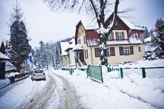 Village in wintertime Royalty Free Stock Photography