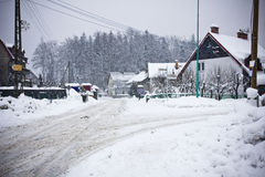 Village in wintertime Royalty Free Stock Photos