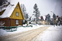 Village in wintertime Royalty Free Stock Images