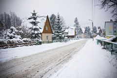 Village in wintertime Royalty Free Stock Photo