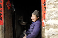 Chinese village woman Stock Photo