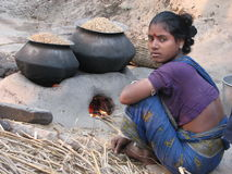 Village woman. Photo of a village woman in India, looking at the camera Royalty Free Stock Images