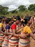 Village women form a circle Stock Photo