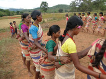 Village women form a circle Royalty Free Stock Photo