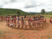 Village women form a circle Royalty Free Stock Photography