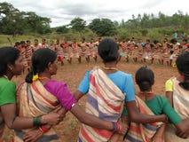 Village women form a circle Royalty Free Stock Photo